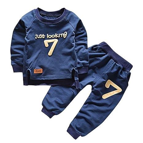 Moresave Bebé Conjunto de ropa de manga larga suéter Tops pantalón ...