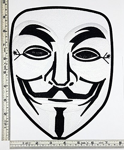 Big Jumbo Large Vendetta Halloween Anonymous Fawkes Guy Mask logo patch Jacket T-shirt Sew Iron on Patch Badge Embroidery