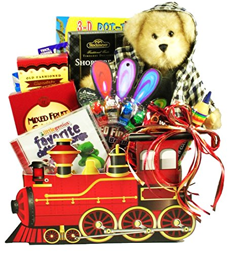 Choo Choo Train Gift Basket for Kids | Valentines Day, Easter, Christmas, Birthday, Get Well (Valentine's Day Gift Baskets For Kids)