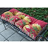 ArtFuzz Yellow Blooming Martha CollinsBench Cushion Multi Color 42X17