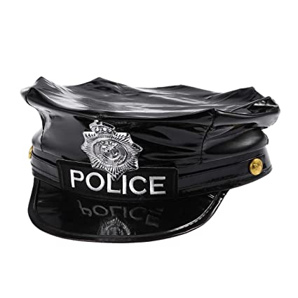 Image Unavailable. Image not available for. Color  Police Hat Cop Hat  Captain Hat Officer Hat Police Cosplay Halloween ... d5011c4544db