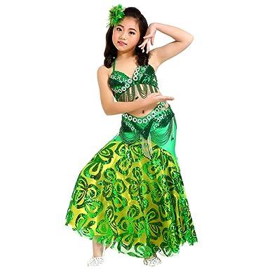 84f10ac63d0da Xinwcang Enfant Danse Orientale Costume Fille Danse du Ventre d halloween  Carnaval Set Ceinture +