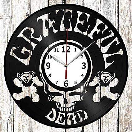 Grateful Dead Vinel Record Wall Clock Home Art Decor Original Gift Unique Design Handmade Vinyl Clock