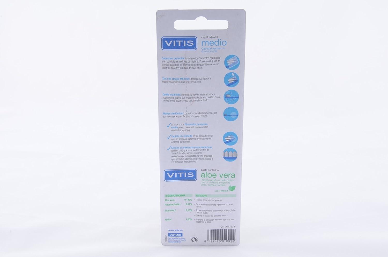 Cepillo vitis pack duplo medio v2 6176: Amazon.es: Salud y cuidado personal