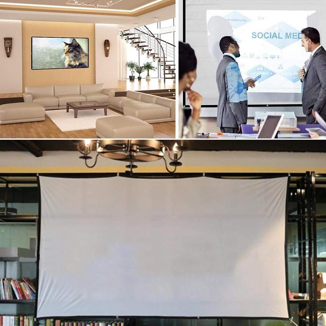 Dadiku Portable Folding Movie Screen Haushaltslichtbeständige Projektionswand Fernseher & Heimkino