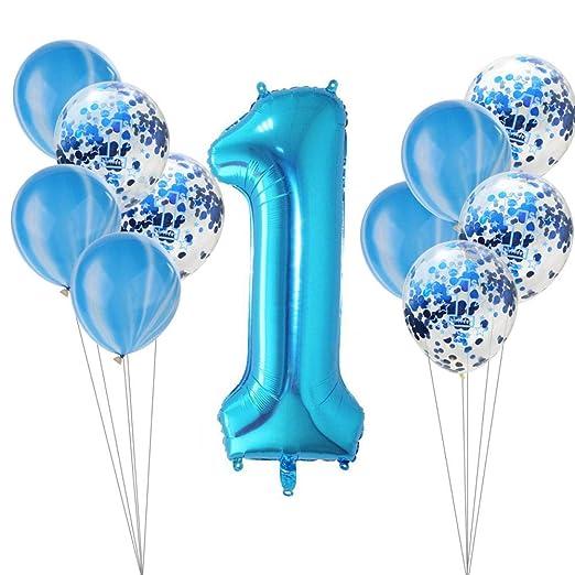 qin-er Balloons Fiesta de cumpleaños de Globos de Confeti de ...