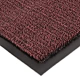 Notrax 141 Ovation Entrance Mat, for Main Entranceways and Heavy Traffic Areas, 4' Width x 6' Length x 5/16'' Thickness, Burgundy