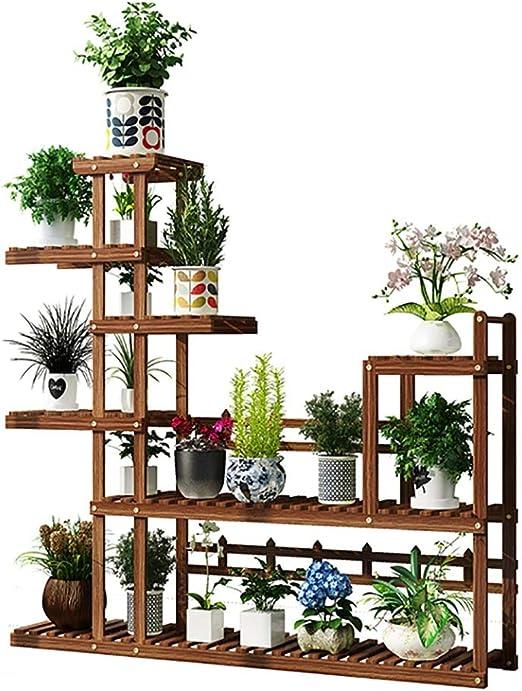 Estantes para plantas / estanteria jardin Soporte de flores de madera Soporte de exhibición de plantas multicapa Estante de pie Estante para flores Jardín interior al aire libre estanterias de jardin: Amazon.es: