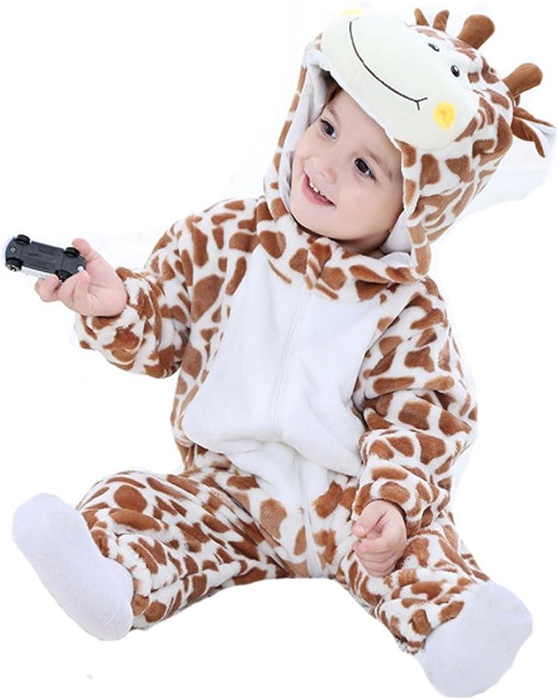Doladola Unisex Baby Fr/ühling Herbst Winter Tier Giraffe B/är Strampler