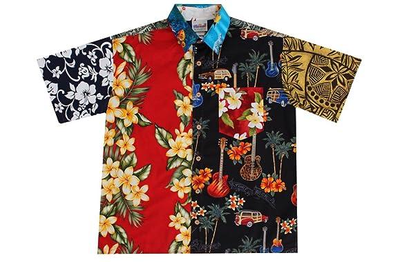30d0db8e6 Amazon.com: Wave Shoppe Men's Ugly Hawaiian Shirt: Clothing