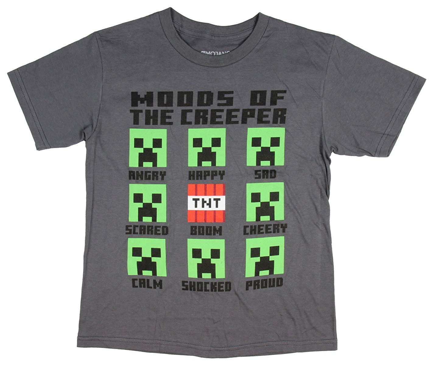 Minecraft Moods of The Creeper Boys Youth T Shirt