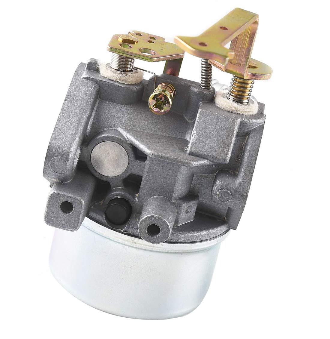 Spark Plug for Tecumseh 640152A 640023 640051 640140 640152 HM80 HM90 HM100 8-10 HP Engine Snow Blower Mower 5000w Generator LEIMO 640152 Carburetor kit Including 33268 Air Filter