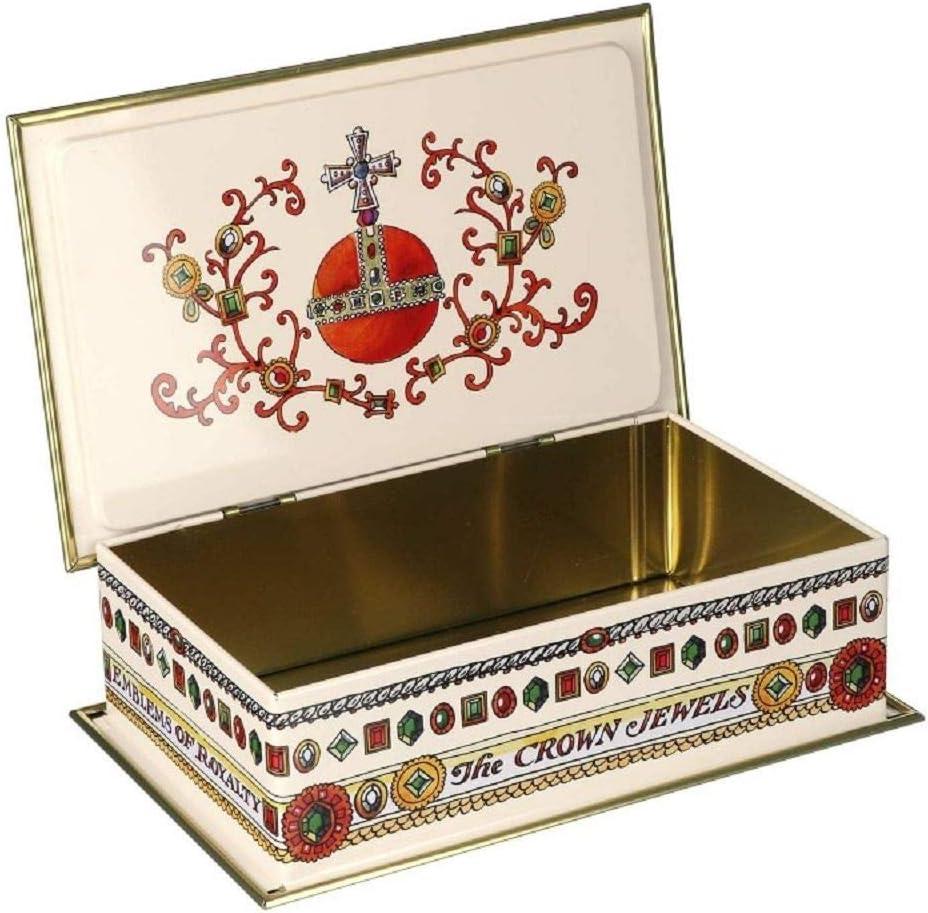 Bridgewater Emma Royal Crown Jewels Vintage Style incernierato Rettangolare 230 x 145 x 63 mm