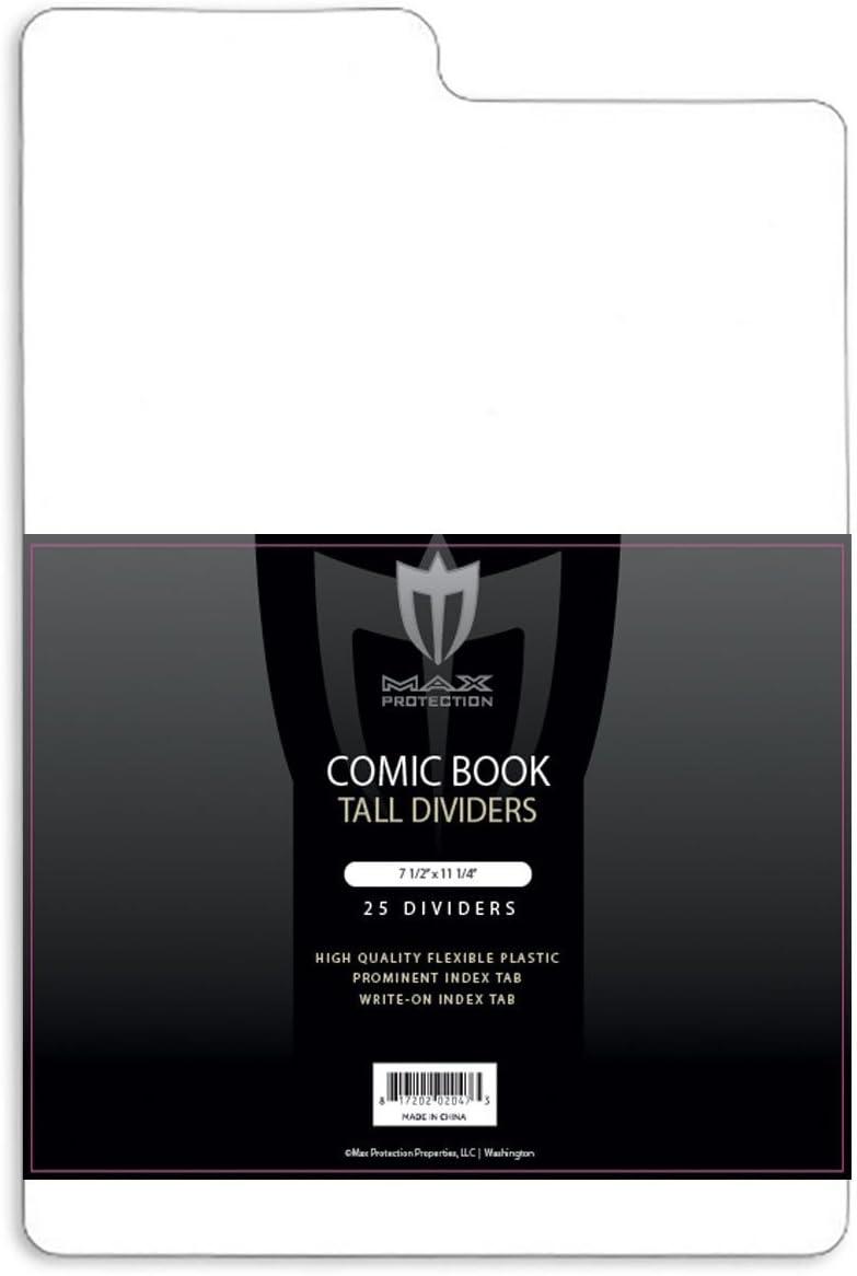 12ケースパック酸フリーTall Comic Bookディバイダーforコミックブックストレージボックス – 300 Dividers