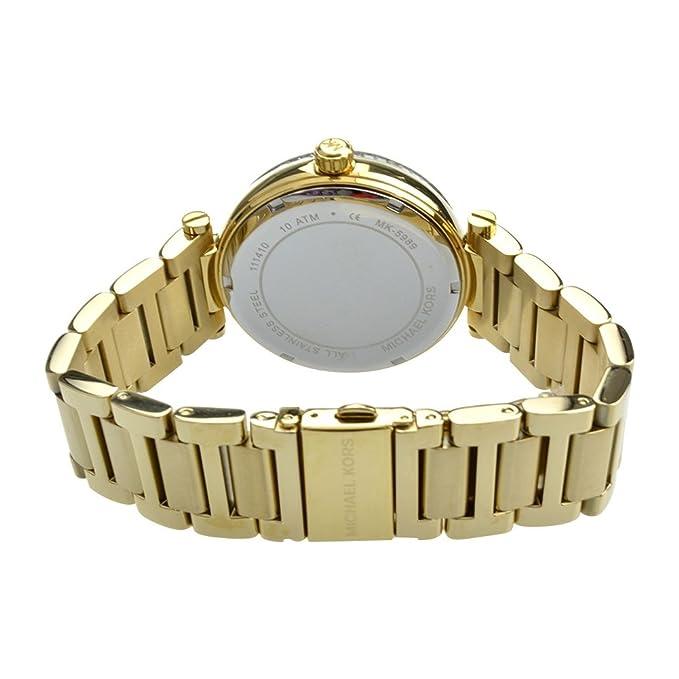 55555032d226 Amazon.com  Michael Kors MK5989 Ladies Skylar Black Gold Watch  Watches