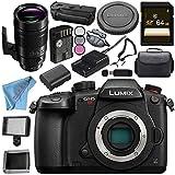 Panasonic Lumix DC-GH5S Mirrorless Micro Four Thirds Digital Camera Leica DG Elmarit 200mm f/2.8 POWER O.I.S. Lens DMW-BGGH5 Battery Grip Bundle