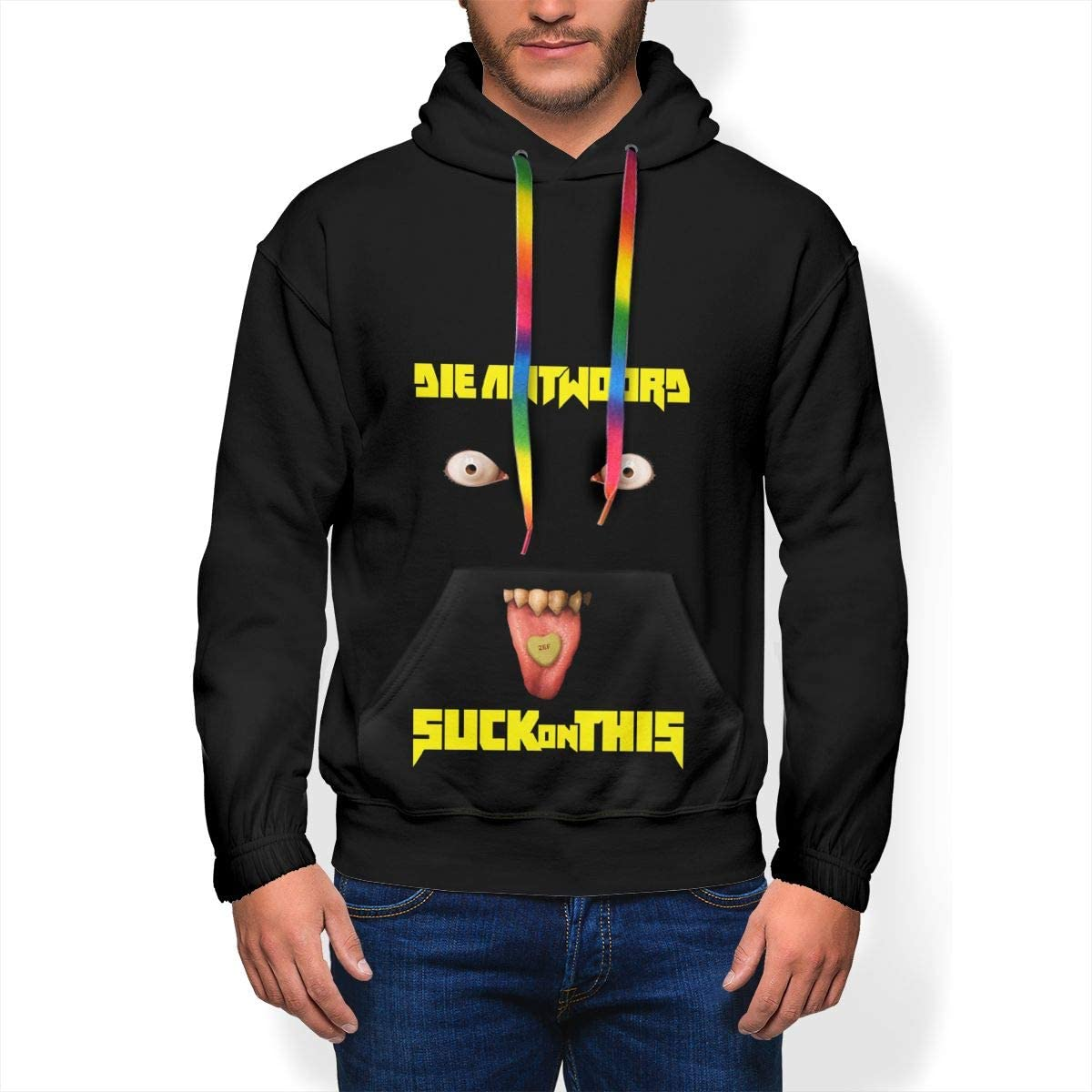 Die Antwoord Suck On This Mens Winter Jacket Clothes Plus Velvet Long Sleeve Hooded Sweat Shirt Pullover