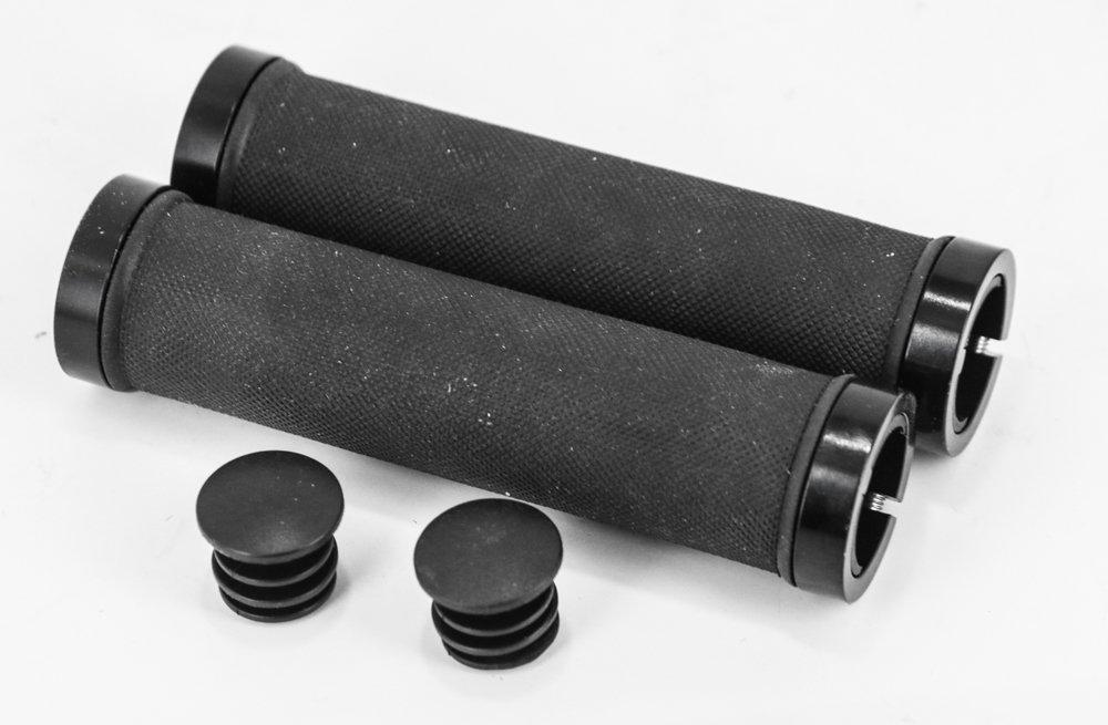 ロックonブラックマウンテンBMXハイブリッドフラットバーバイクグリップ22.2 MM 7 / 8インチ130 mm新しい B075RCZ135