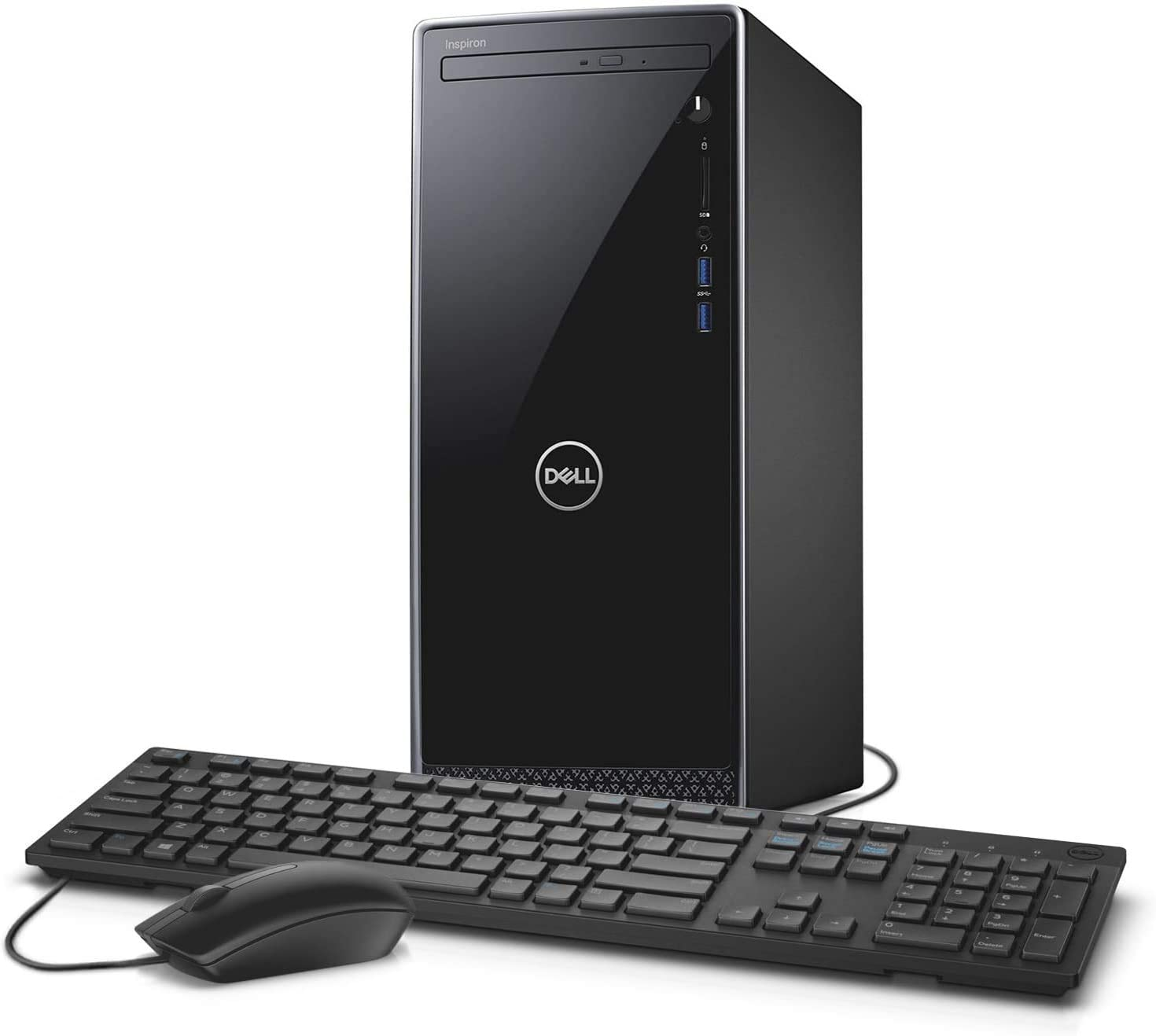 2020 Dell Inspiron Desktop Tower: 9th gen Intel 8-Core i7-9700, 16GB RAM, 512GB SSD + 1TB HDD Dual Drive, NVIDIA GeForce GTX 1050 Graphics, WiFi, Bluetooth, DVDRW, Win 10 w/Rock eDigital Accessories