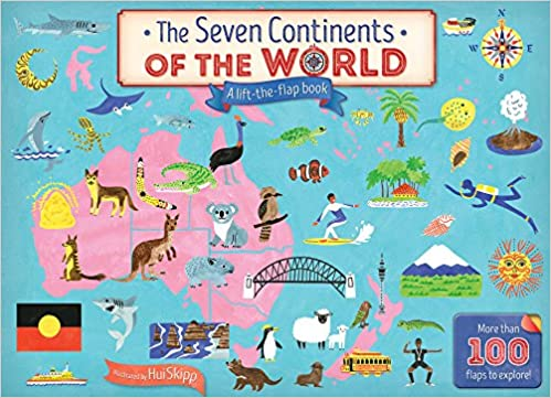 The Seven Continents Of The World, A Lift The Flap Book: Hui Skipp:  9781760068417: Amazon.com: Books