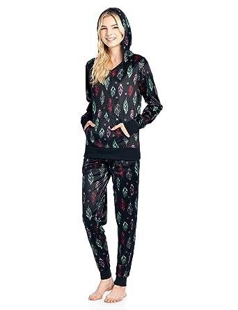 a4a27664c Ashford   Brooks Women s Mink Fleece Hoodie Pajama Set at Amazon ...