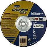 Norton Norzon Plus Pipe Notcher Depressed Center Abrasive Wheel, Type 27, Zirconia Alumina, 5/8''-11 Hub, 9'' Diameter x 1/8'' Thickness  (Pack of 10)
