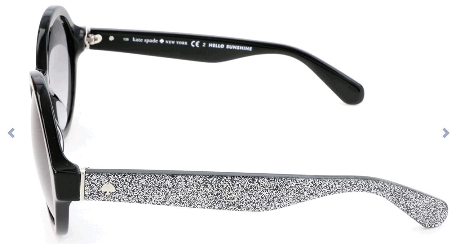 839f75bee782 Amazon.com: Kate Spade Women's Khrista/s Round Sunglasses, Black Silver  Glitter/Gray Gradient, 52 mm: Clothing