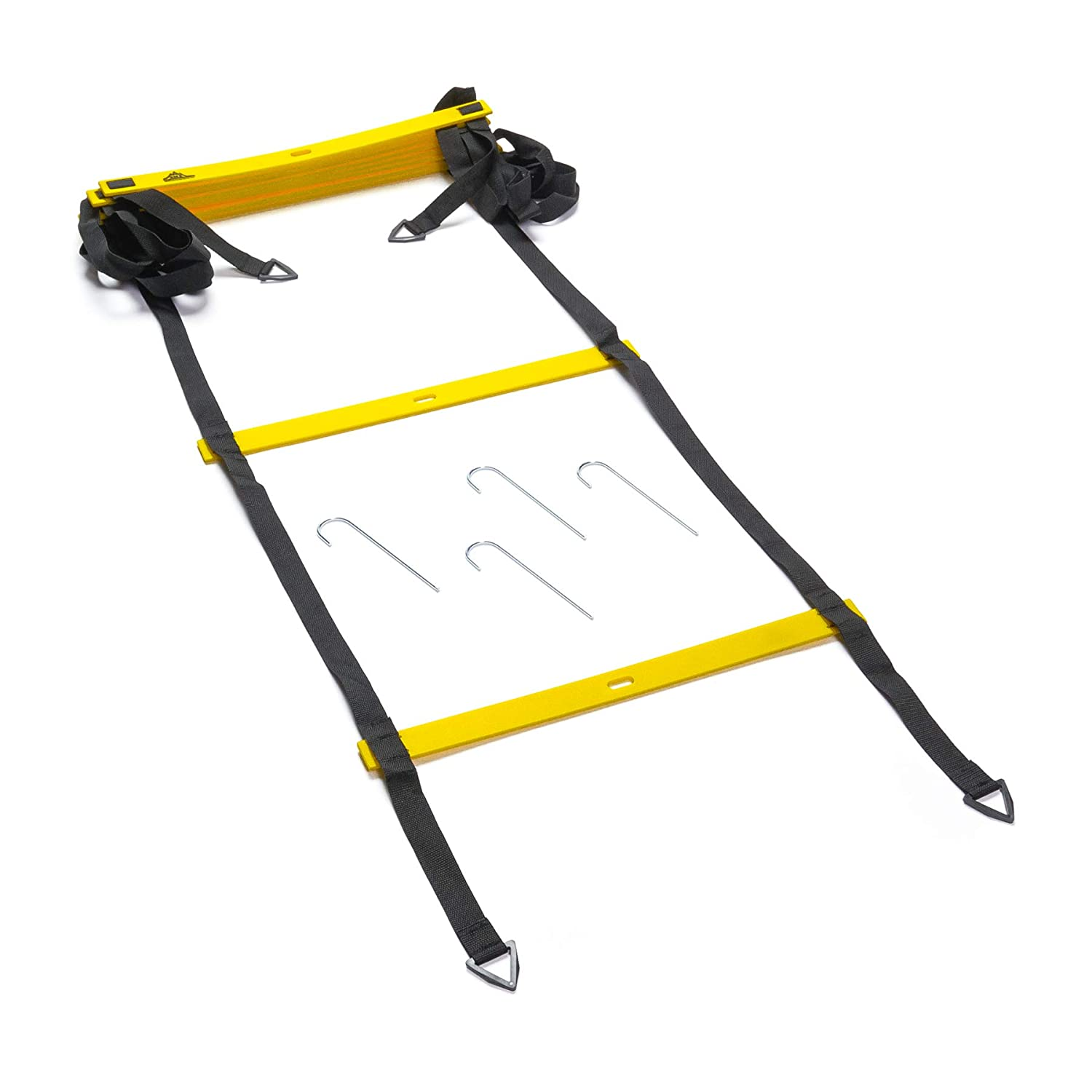 Kinelo Black Mountain Products Foldable Agility Ladder with Carry Bag, 4M
