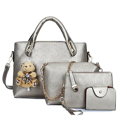 8112aa89159d Amazon.com: FiveloveTwo Women 4 Pcs Top Handle Satchel Hobo Handbag ...
