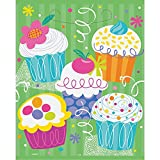 Unique Cupcake Party Favor Bags (8 Count), Green