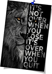 African Black Lion Poster Lion Inspirational Poster Home Classroom Decor Posters For Office Wall Decor Canvas Rolls (16x24 inch Unframed,Black)