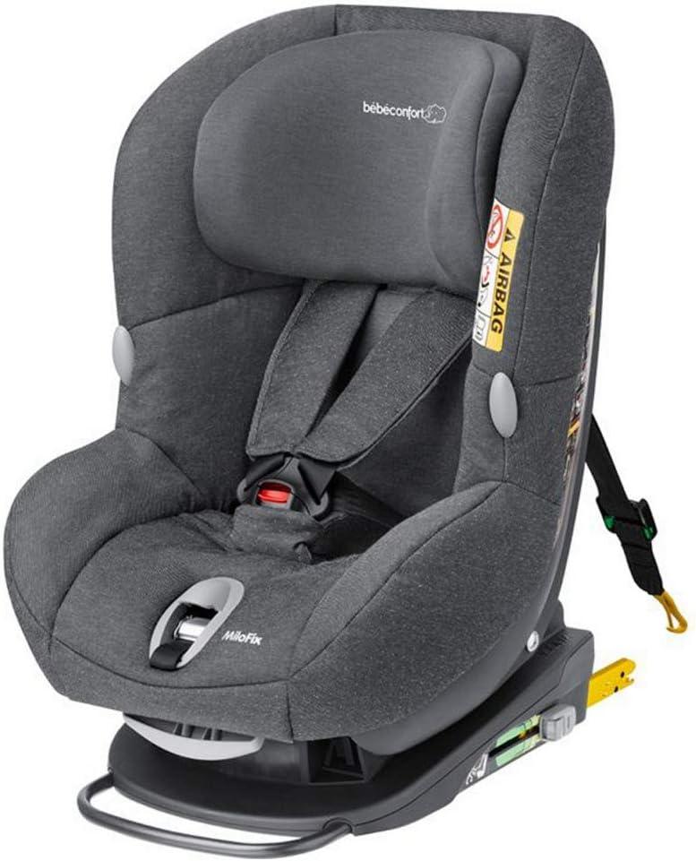 Bébé Confort MILOFIX - Silla de auto de 0 a 4 años, R44/04, 0-18 kg, gr 0+/1, color gris (Sparkling Grey)