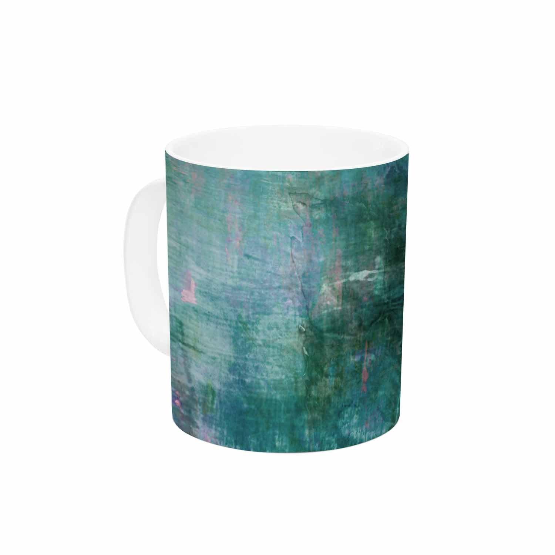 Multi KESS InHouse Ebi EmporiumBlue Planet Teal Blue Painting Ceramic Coffee Mug 11oz