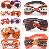 Roto - 50 Pcs/set Mix Stylehandmade Halloween Dog Bow Tie Dogs Festival Tie Pet Supplies Wholesale