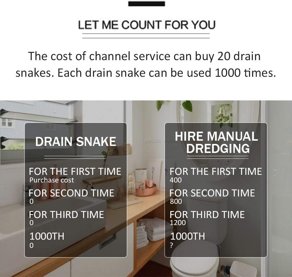 Kitchen Sink Drain Catcher Drain Weasel Shower Toilet Snake Drain Hair Removal Tool Drain Snake Clog Remover 25 Feet Drain Sticks for Clogs