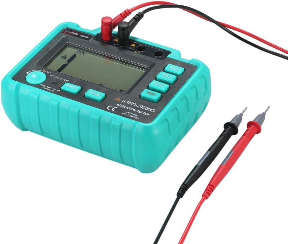 Resistance Tester Fesjoy RESISTANCE TESTER Vc60B Lcd Insulation Resistance Tester Megohm Meter Megohmmeter Dc250V//500V//1000V Ac750V