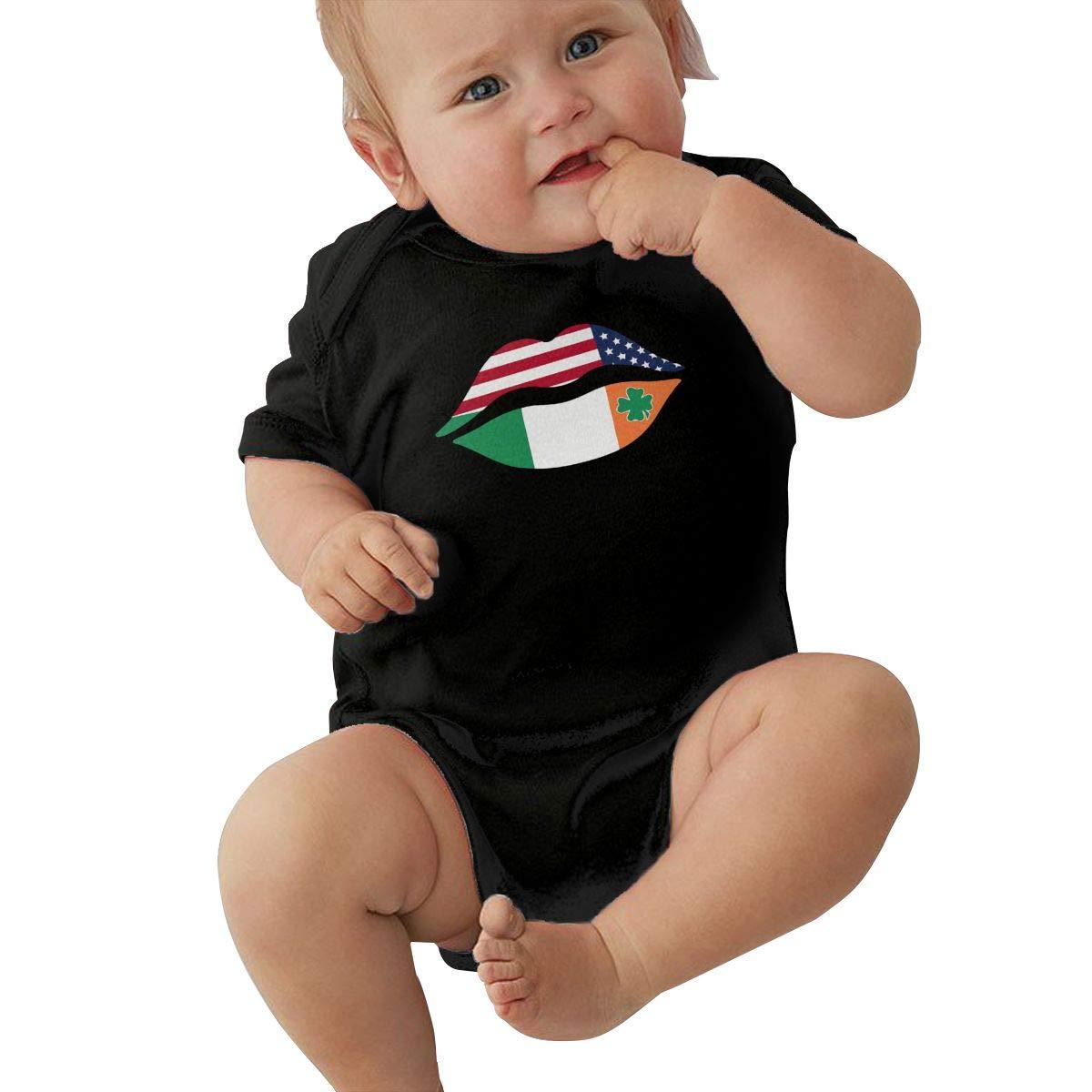 St Patricks Day Lips Baby Boys Original 100/% Cotton Baby Onesie