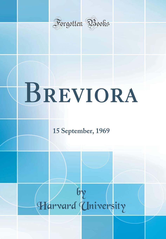 Breviora: 15 September, 1969 (Classic Reprint) ebook