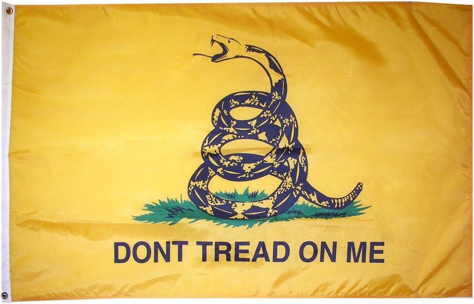 Amazon.com : Don't Tread On Me Flag (Gadsden Flag) - 6' x 10' Nylon :  Outdoor Decor : Garden & Outdoor