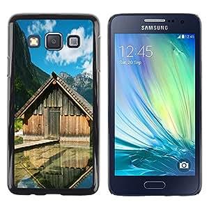 Paccase / SLIM PC / Aliminium Casa Carcasa Funda Case Cover - Lake cabins - Samsung Galaxy A3 SM-A300