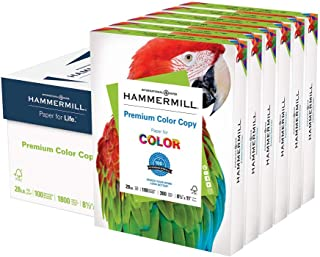 product image for Hammermill Printer Paper, Premium Color 28 lb Copy Paper, 8.5 x 11 - 6 Pack (1,800 Sheets) - 100 Bright, Made in the USA