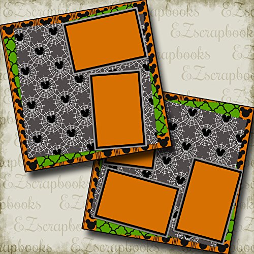 MOUSE HALLOWEEN INSPIRED - Premade Scrapbook Pages - EZ Layout 2876 (Layouts Halloween Scrapbook)