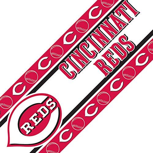 MLB Cincinnati Reds Wall Border Is Vinyl Peel And Stick