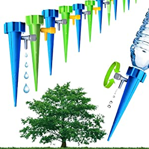 CYW Plant Self Water Spike Dropper with 12Packs,Water Drip Irrigation System for Home, Garden Plants Indoor or Outdoor