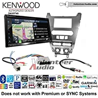 Volunteer Audio Kenwood DNX574S Double Din Radio Install Kit with GPS Navigation Apple CarPlay Android Auto Fits 2008-2011 Focus