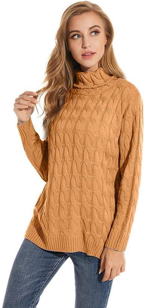VJGOAL Jerséis para Mujer Invierno Otoño Moda Casual Twist Suéter ...