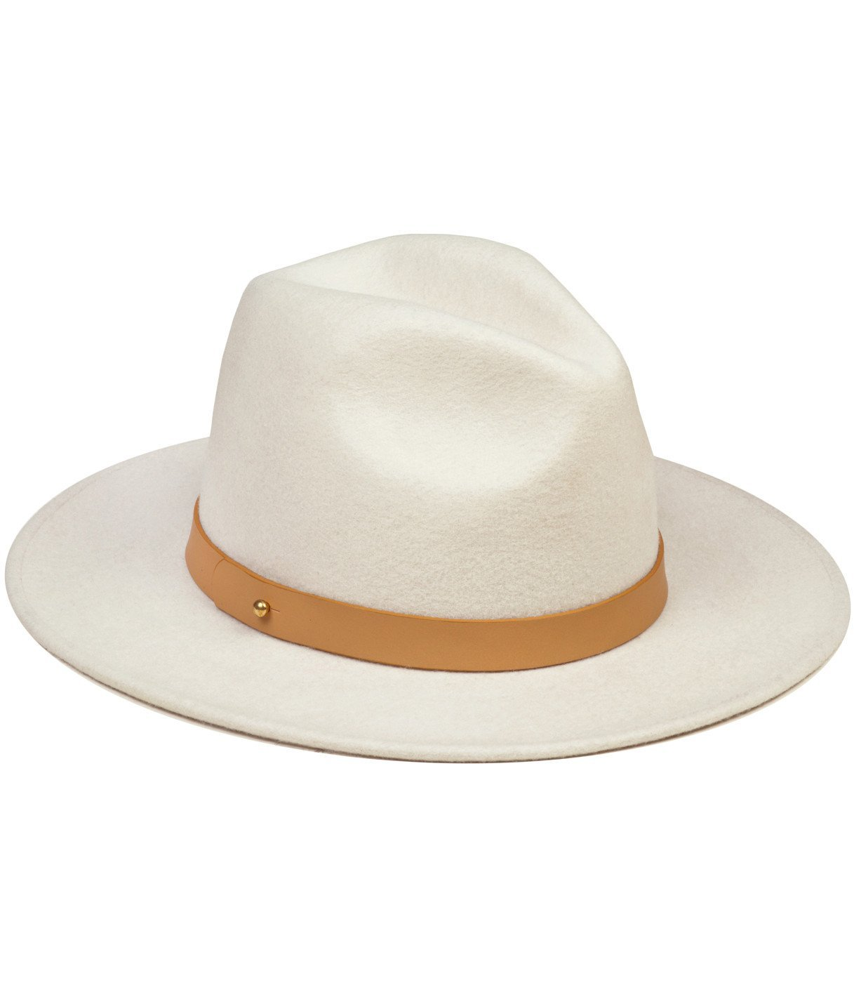 Lack of Color Women's The Fader Fedora Hat (SM (55cm), White)