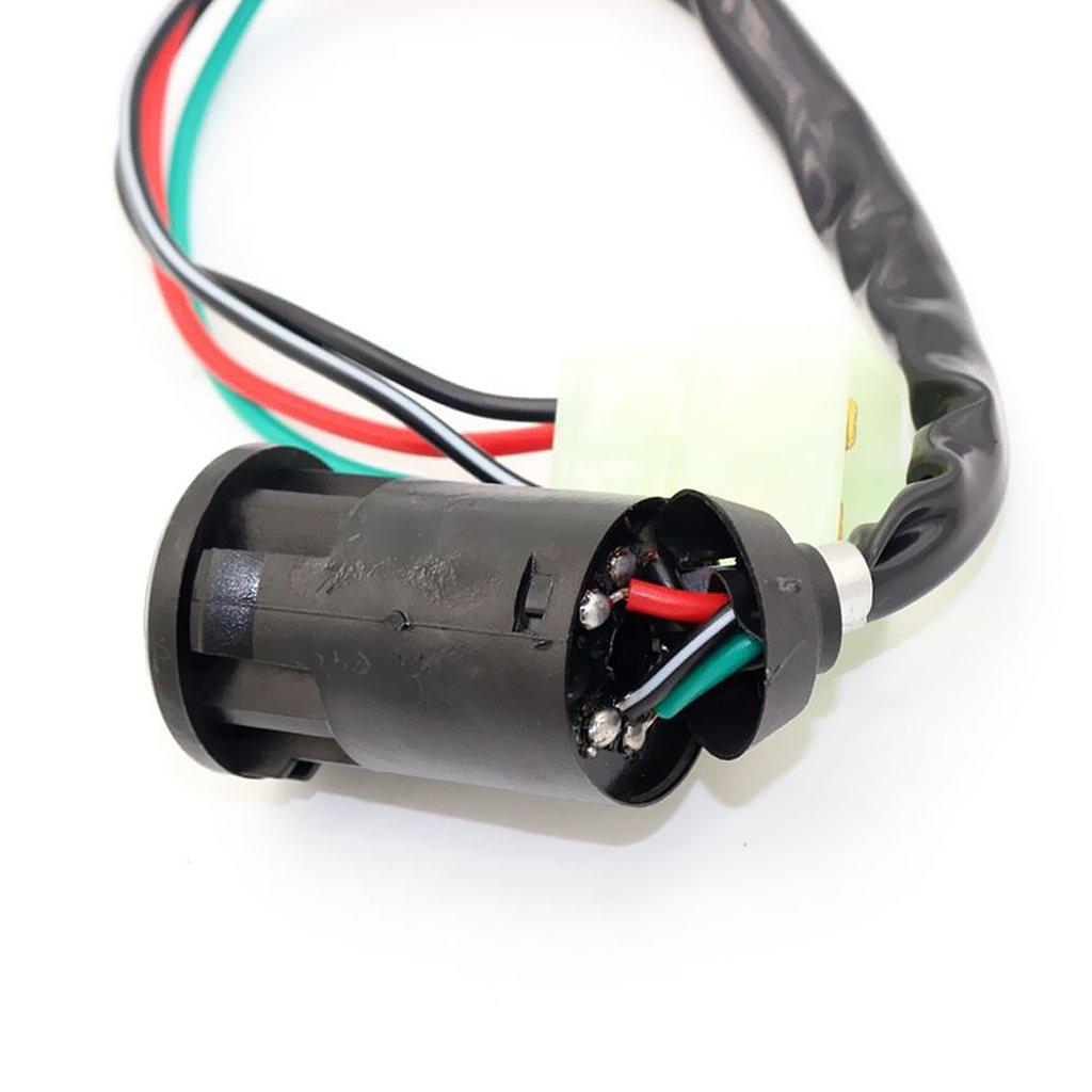 Schwarz MagiDeal Ersatz 4-pol Z/ündschlussel Schalter Zubeh/ör f/ür 50cc 110cc 125cc ATV Quad Roller
