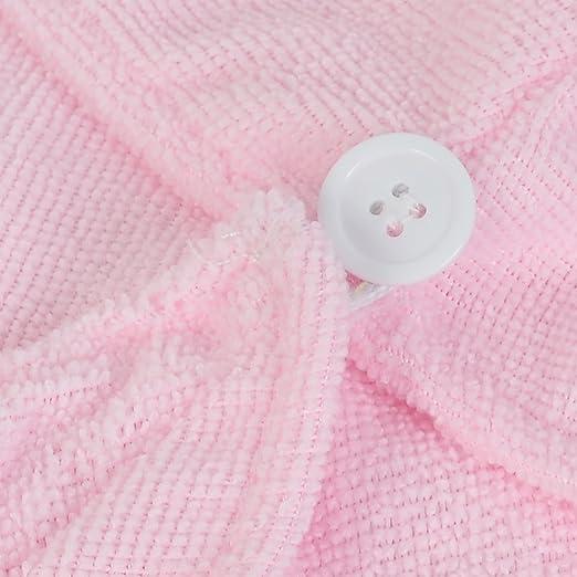 Amazon.com: Rosa eDealMax Señora de toallas de baño Ducha Wrap casquillo del Sombrero del Cabello seco 57 cm Longitud 2pcs: Health & Personal Care