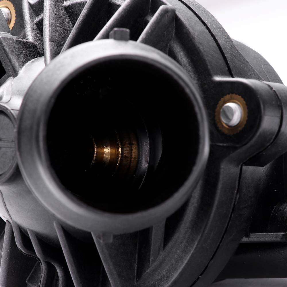 LUJUNTEC Coolant Thermostat Fit for 2008-2010 BMW 128i,2008-2010 BMW 135i,2007-2011 BMW 328i,2010-2011 BMW 328i xDrive,2007-2010 BMW 335i Replaces 11537536655 11537549476 Engine Water Inlet